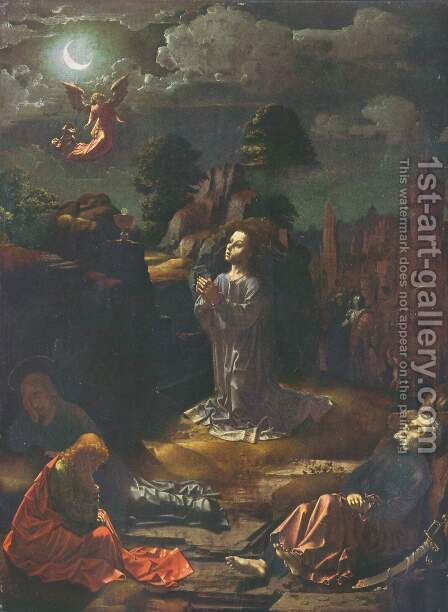 Christ on the Mount of Olives by Jan (Mabuse) Gossaert - Reproduction Oil Painting
