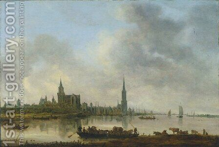 View of Emmerich by Jan van Goyen - Reproduction Oil Painting