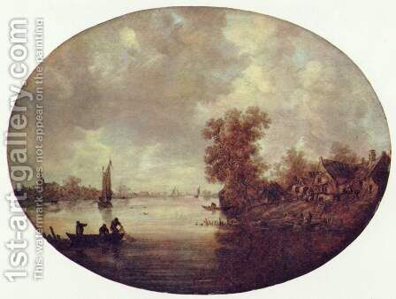 Summer on the River by Jan van Goyen - Reproduction Oil Painting