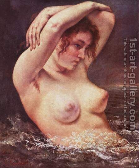 The Bather by Gustave Courbet - Reproduction Oil Painting