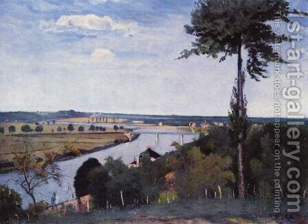 Seine landscape at Bois-Le-Roi by Carl Fredrik Hill - Reproduction Oil Painting