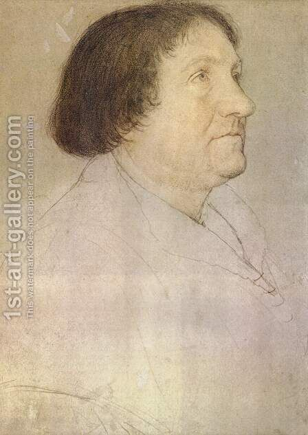 Portrait of Jakob Meyer zum Hasen, mayor of Basel by Hans, the Younger Holbein - Reproduction Oil Painting
