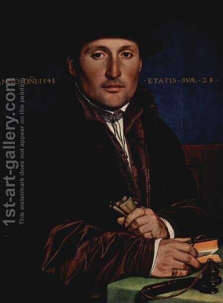 Portrait of a young man by Hans, the Younger Holbein - Reproduction Oil Painting