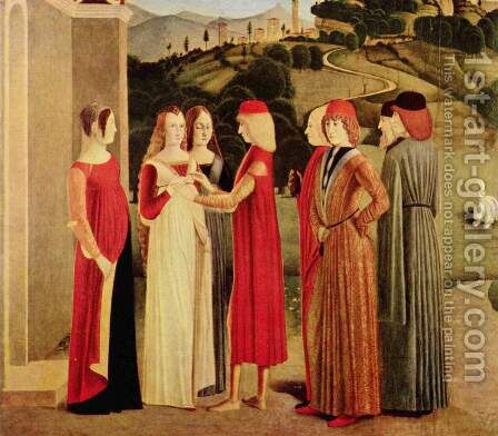The Betrothal by Italian Unknown Masters - Reproduction Oil Painting