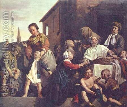 The care of orphans by Jan De Bray - Reproduction Oil Painting