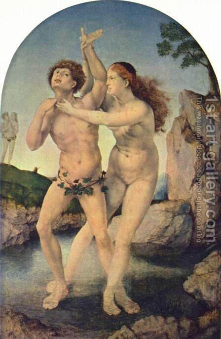 Transformation of Hermaphroditos and Salmicis by Jan (Mabuse) Gossaert - Reproduction Oil Painting