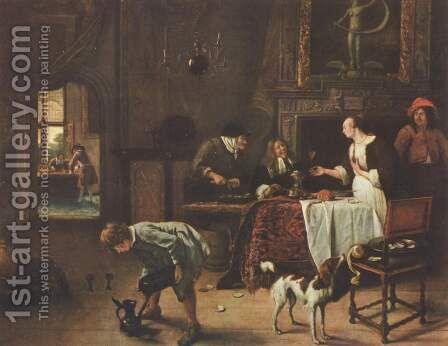 We win, we loose by Jan Steen - Reproduction Oil Painting