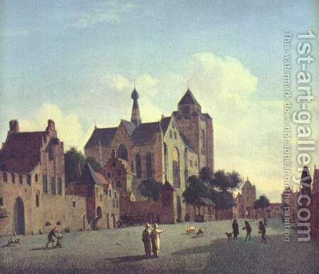 The church of Veere by Jan Van Der Heyden - Reproduction Oil Painting