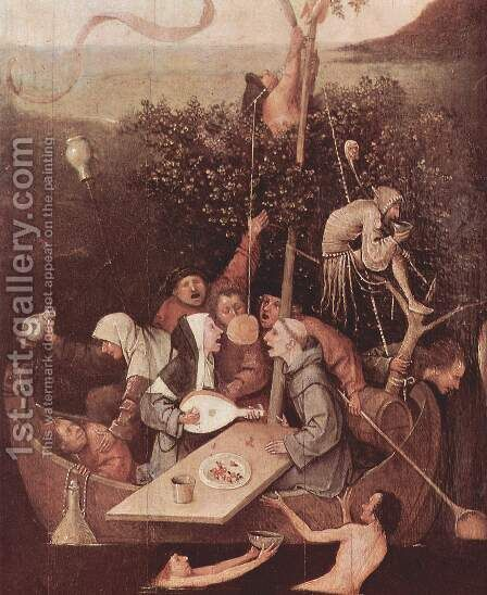 The Ship of Fools [detail] by Hieronymous Bosch - Reproduction Oil Painting