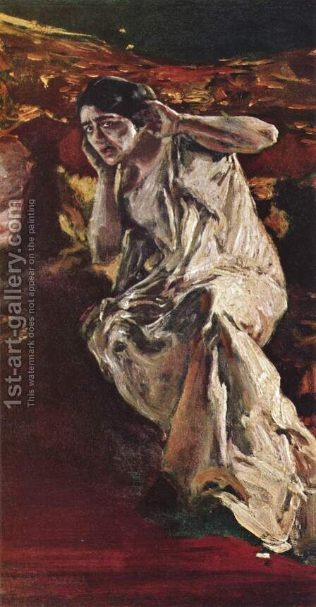 The dancer Madeleine by Albert von Keller - Reproduction Oil Painting
