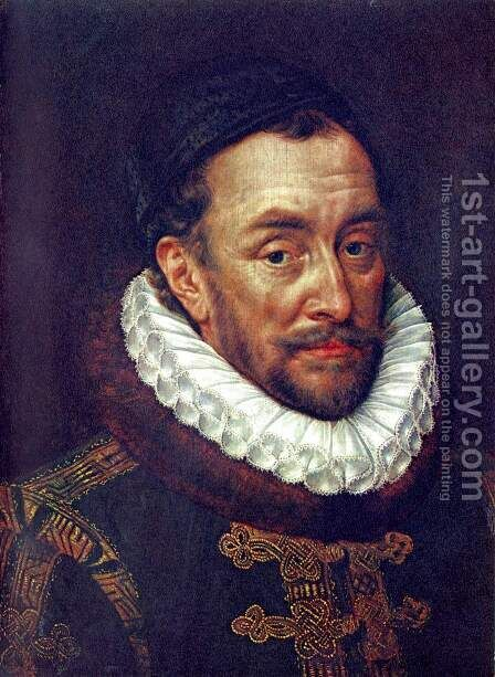 Portrait of Prinzen Wilhelm von Oranien by Adriaen Thomasz. Key - Reproduction Oil Painting