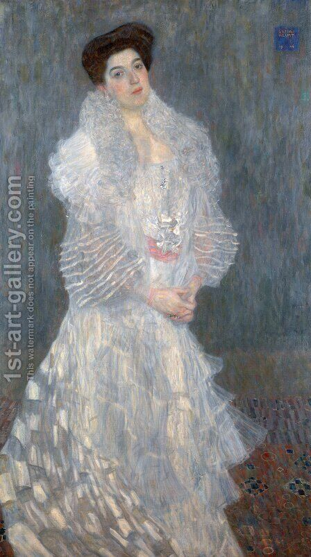 Portrait of Hermine Gallia by Gustav Klimt - Reproduction Oil Painting