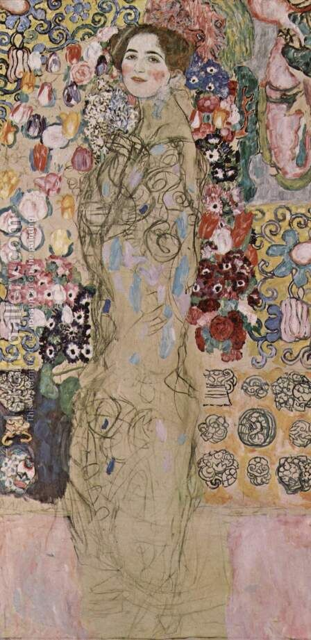 Portrait of Maria Munk by Gustav Klimt - Reproduction Oil Painting