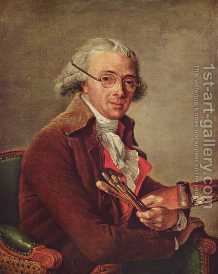Portrait of Francois Andre Vincent by Adelaide Labille-Guiard - Reproduction Oil Painting