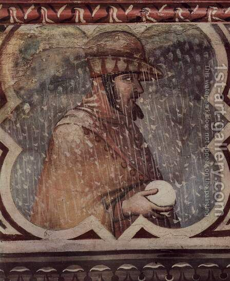Allegory of Winter, medallion, the bad government assigned by Ambrogio Lorenzetti - Reproduction Oil Painting