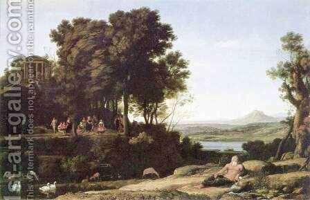 Landscape with Apollo, the Muses and a river god by Claude Lorrain (Gellee) - Reproduction Oil Painting