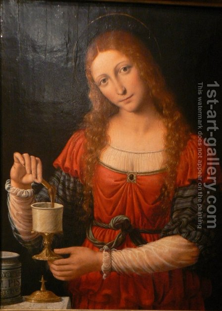 Susanna and the old Maria Magdalena by Bernardino Luini - Reproduction Oil Painting