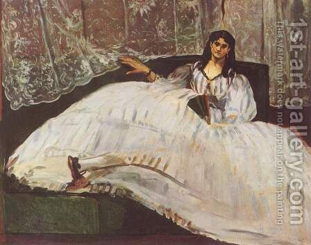 Lady with fan by Edouard Manet - Reproduction Oil Painting