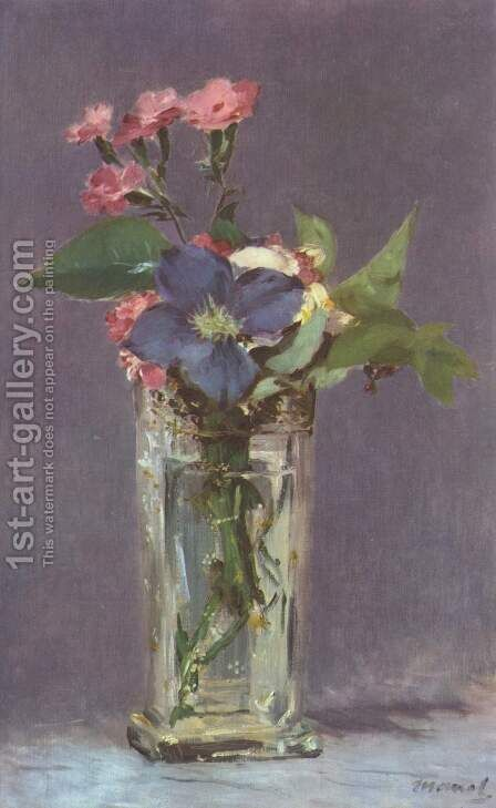 Still life with flowers by Edouard Manet - Reproduction Oil Painting
