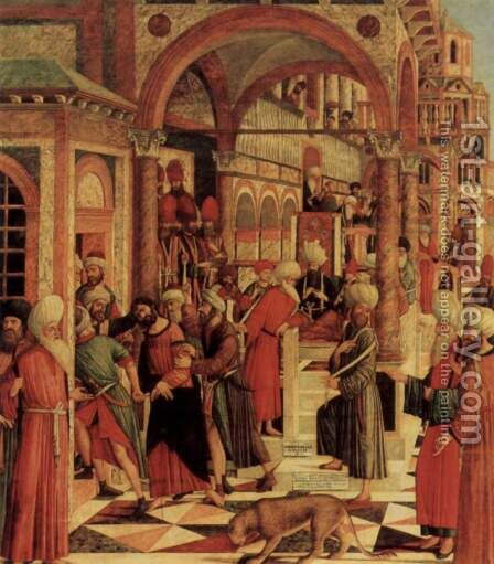 The capture of St. Mark in the synagogue by Giovanni di Niccolo Mansueti - Reproduction Oil Painting