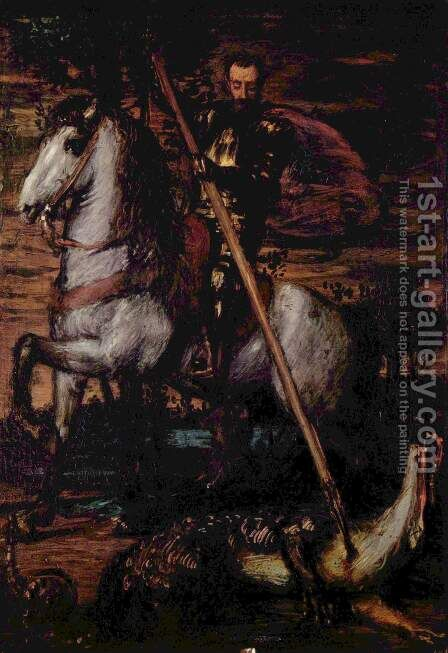 Dragonslayer by Hans von Marees - Reproduction Oil Painting