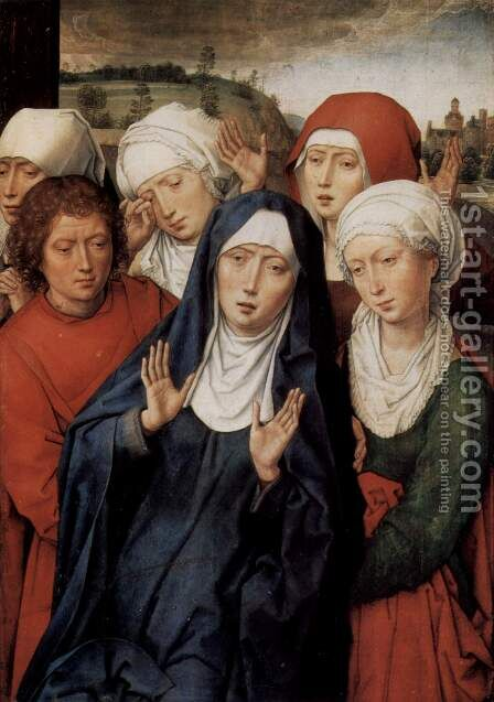 Granada-diptych, right wing, the holy women and St. John by Hans Memling - Reproduction Oil Painting