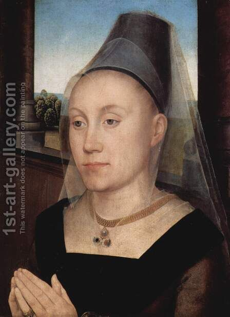 Portrait of Barbara van Vlaendenbergh by Hans Memling - Reproduction Oil Painting
