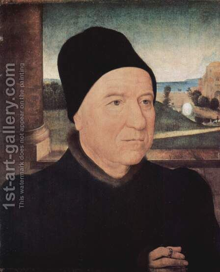 Portrait of an older man by Hans Memling - Reproduction Oil Painting