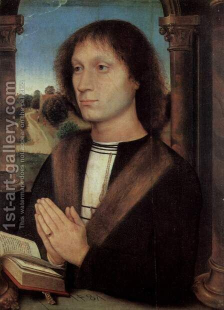 Portrait of a man (Giovanni) by Hans Memling - Reproduction Oil Painting