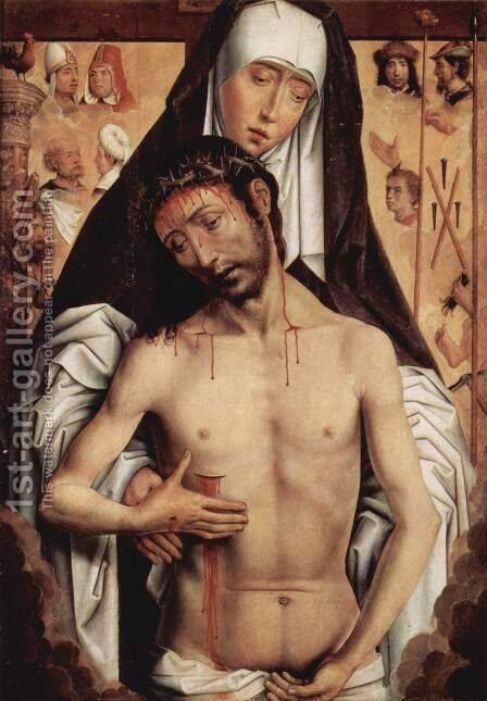 Sorrows with dead Christ by Hans Memling - Reproduction Oil Painting