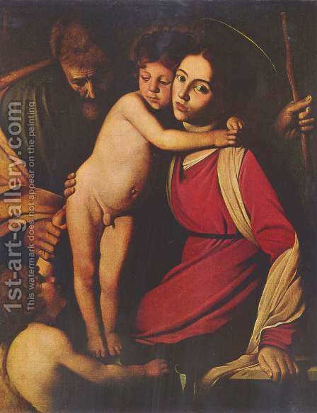 Holy Family with John the Baptist by Caravaggio - Reproduction Oil Painting