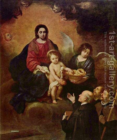 The Child Christ distributes bread to the pilgrims by Bartolome Esteban Murillo - Reproduction Oil Painting