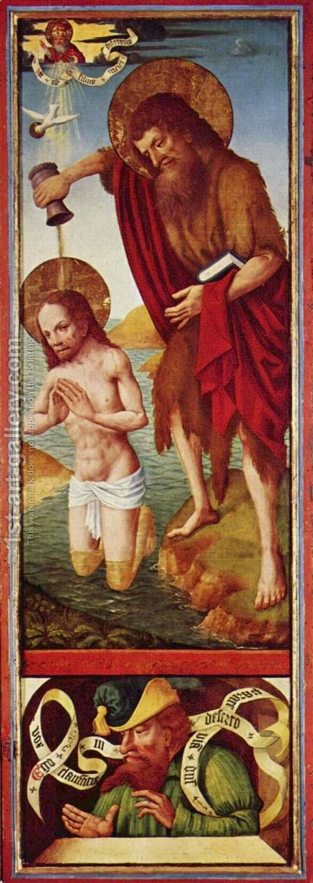Baptism of Christ by Bernt Notke - Reproduction Oil Painting