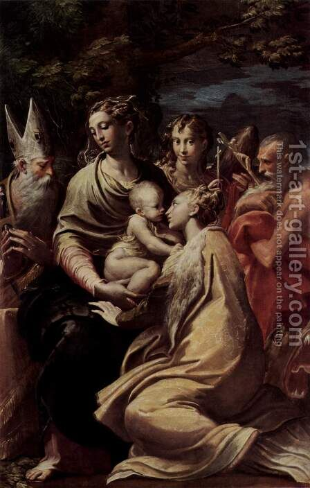 Madonna with St. Margaret, St. Peter and St. Jerome and St. Michael by Girolamo Francesco Maria Mazzola (Parmigianino) - Reproduction Oil Painting