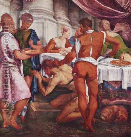 Beheading of John the Baptist by Jacopo Bassano (Jacopo da Ponte) - Reproduction Oil Painting