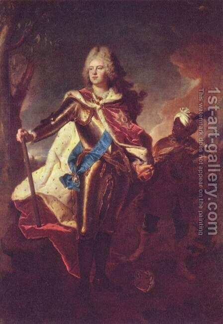 Portrait of Frederick Augustus II, Elector of Saxony as crown prince by Hyacinthe Rigaud - Reproduction Oil Painting