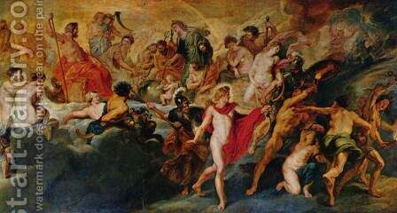 Paintings for Maria de Medici, Queen of France, scene the government of the queen (Gotterat) by Rubens - Reproduction Oil Painting
