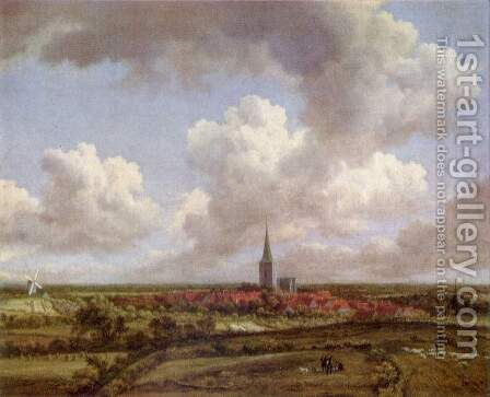 Landscape with dunes by Jacob Van Ruisdael - Reproduction Oil Painting