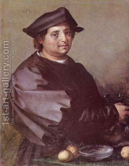 Self Portrait 2 by Andrea Del Sarto - Reproduction Oil Painting