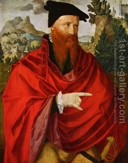 Portrait of David Joris re Tures by Jan Van Scorel - Reproduction Oil Painting