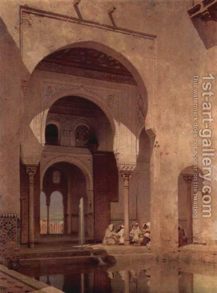 Alhambra by Adolf Seel - Reproduction Oil Painting