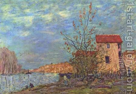 The Loing at Moret 2 by Alfred Sisley - Reproduction Oil Painting