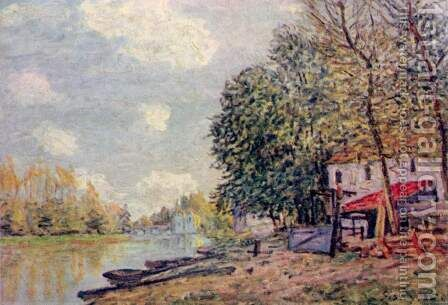 The Loing at Moret 3 by Alfred Sisley - Reproduction Oil Painting