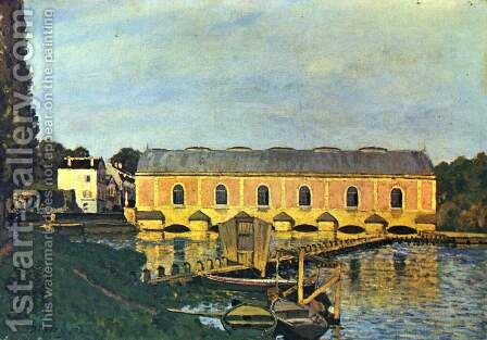 Pump engine house at Marly by Alfred Sisley - Reproduction Oil Painting