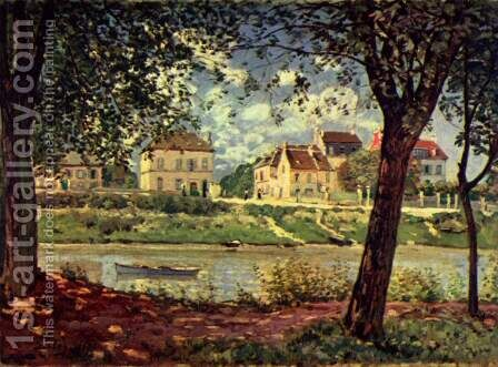 Seine at Saint-Mammes by Alfred Sisley - Reproduction Oil Painting