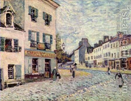 Street in Marly by Alfred Sisley - Reproduction Oil Painting