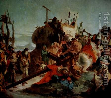 Stations of the Cross of Christ to Calvary by Giovanni Battista Tiepolo - Reproduction Oil Painting