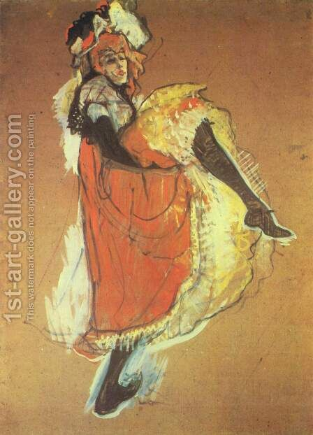 Jane Avril dancing, study for the poster by Toulouse-Lautrec - Reproduction Oil Painting