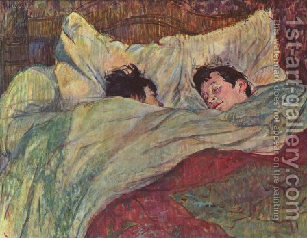 In the bed (Dans le Lit) by Toulouse-Lautrec - Reproduction Oil Painting