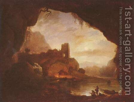 Landscape with Ruins by Claude-joseph Vernet - Reproduction Oil Painting